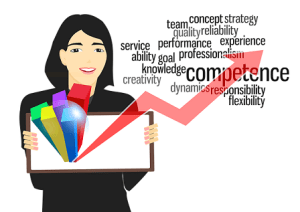 marketing de contenu-une employée montre ses compétences.