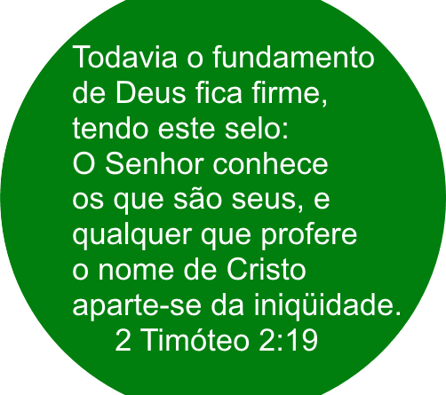 Aparte sedainiquidade - Não seja apenas membro de uma denominação seja membro do corpo de Cristo