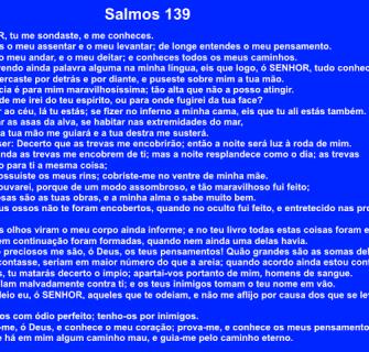 Salmos139 1 - Leia e medite no livro de Salmos número 139