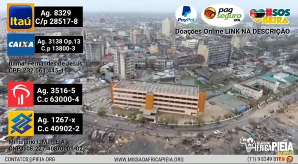 Moçambique Idai - Situação Crítica em Moçambique   Base Missionária Destruída