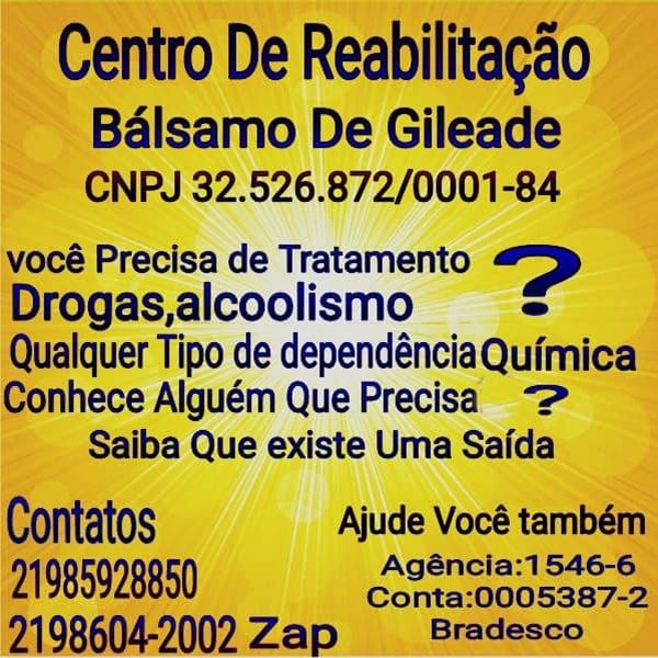 Centro de Reabilitaçao - Centro de Reabilitação Balsamo de Gileade