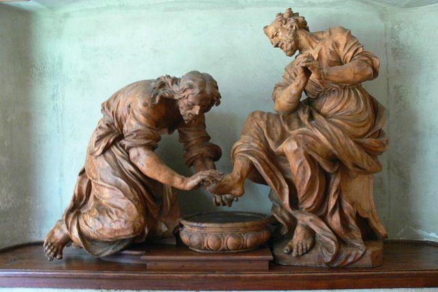 Jesus Lavava os Pés dos Discípulos