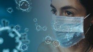 Coronavírus - Imagem de uma mulher usando máscara