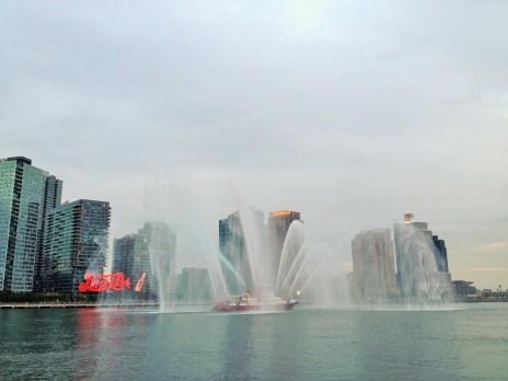 NYC Fireboat Heralding Fireworks July 4, 2015