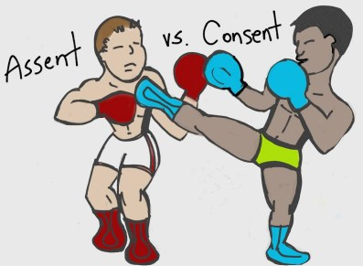 #assentvsconsent is separated by #reason and #knowledge