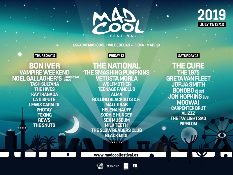 Mad Cool Festival 2019 preliminary lineup