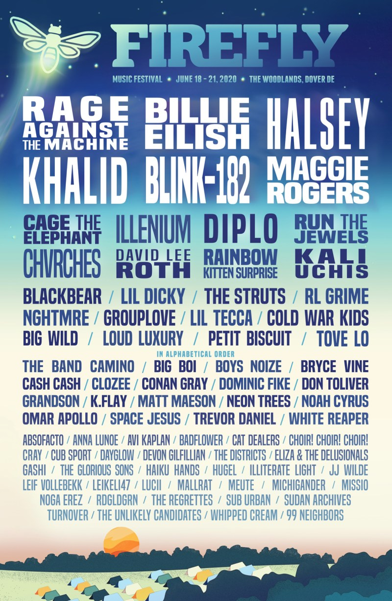 Firefly Festival 2020 lineup