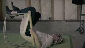 "The National's Matt Berninger in video for ""Distant Axis"""