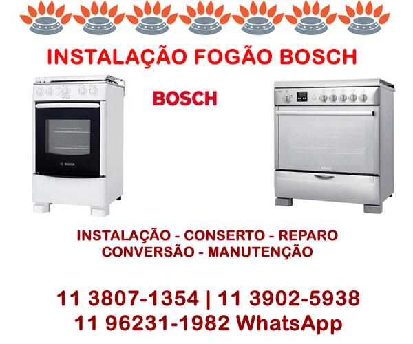 Instalação fogão Bosch