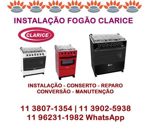 Instalação Fogão Clarice