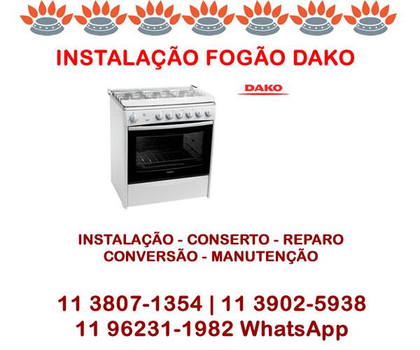 Instalação Fogão Dako