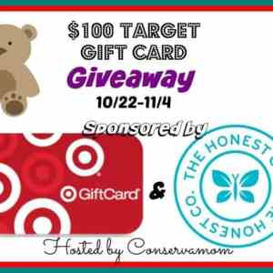 $100 Target Gift Card Giveaway ends 11/4