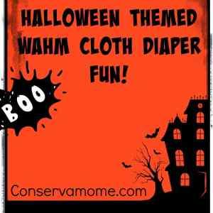 It's WAHM Halloween Cloth Diaper  fun!