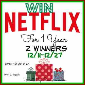 Netflix Holiday Fun and 1 Year Netflix Giveaway (2 winners) ends 12/27