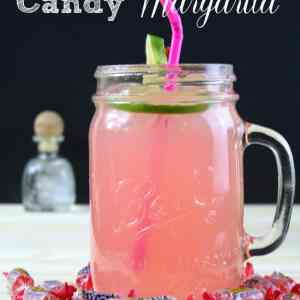 Strawberry Infused Candy Margarita