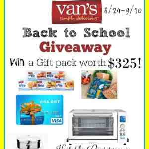 Vans Simply Delicious Back To School Giveaway Event ends 9/10