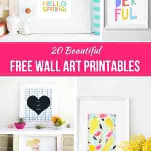 20 Beautiful Free Wall Art Printables