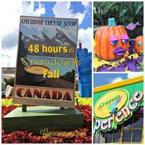 48 Hours in Orlando in the Fall! #VisitOrlando