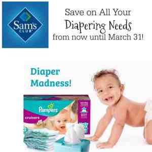 Save on all Your Diapering Needs at Sam's Club! #DiaperMadness