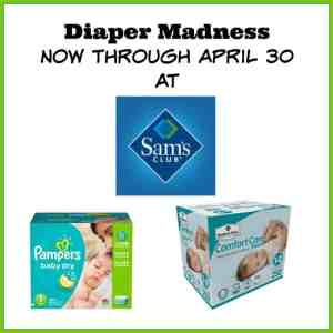Grab Big Savings on Diapers at Sam's Club All Month Long!