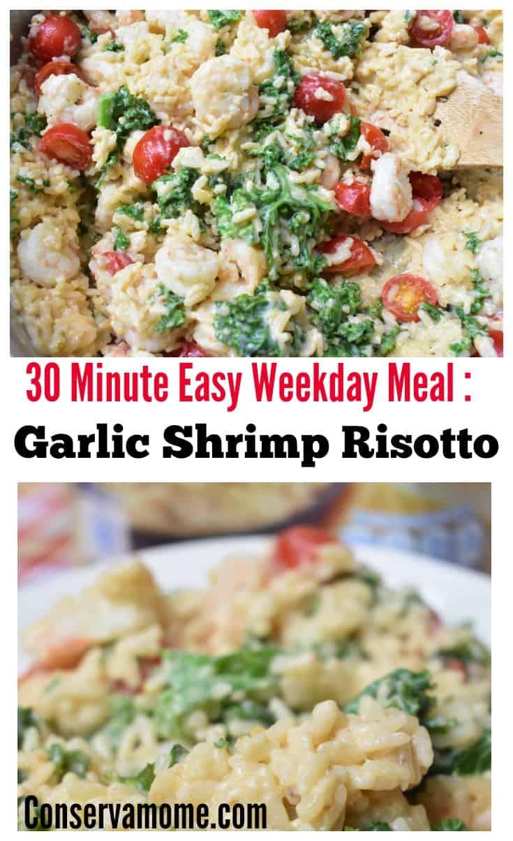 Easy Weekday Meal Garlic Shrimp Risotto