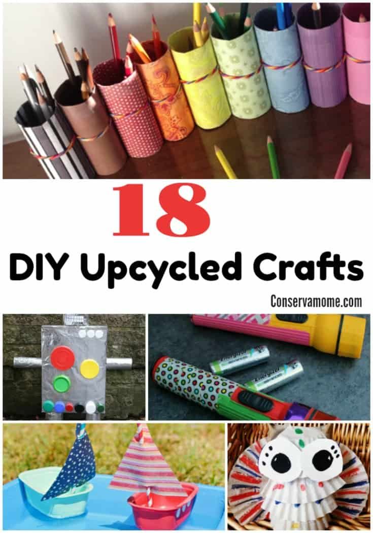 These 18 DIY Upcycled Crafts will help you recycle some everyday products into some great fun!