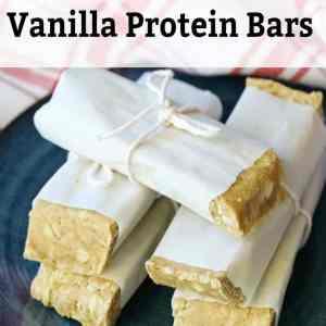 Peanut Butter Vanilla Homemade Protein Bars