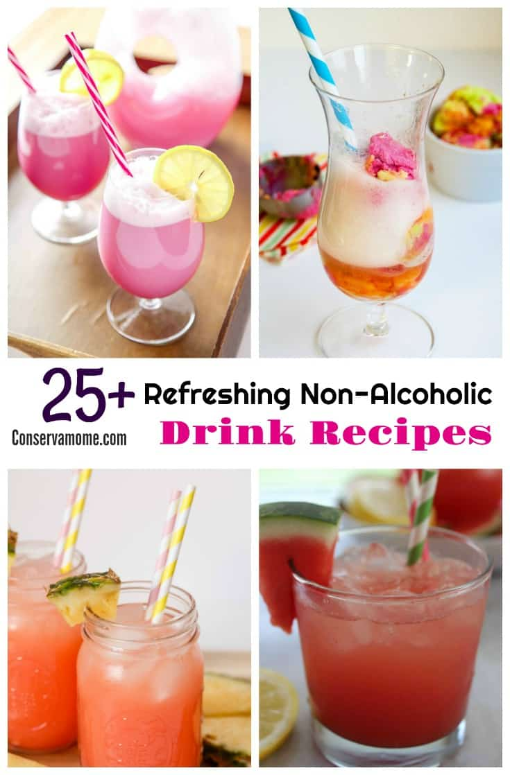 Ready to relax on a hot summer day? Don't forget to sit back with a delicious drink. Check out this list of25+ Refreshing Non Alcoholic Drink Recipes sure to cool you down!