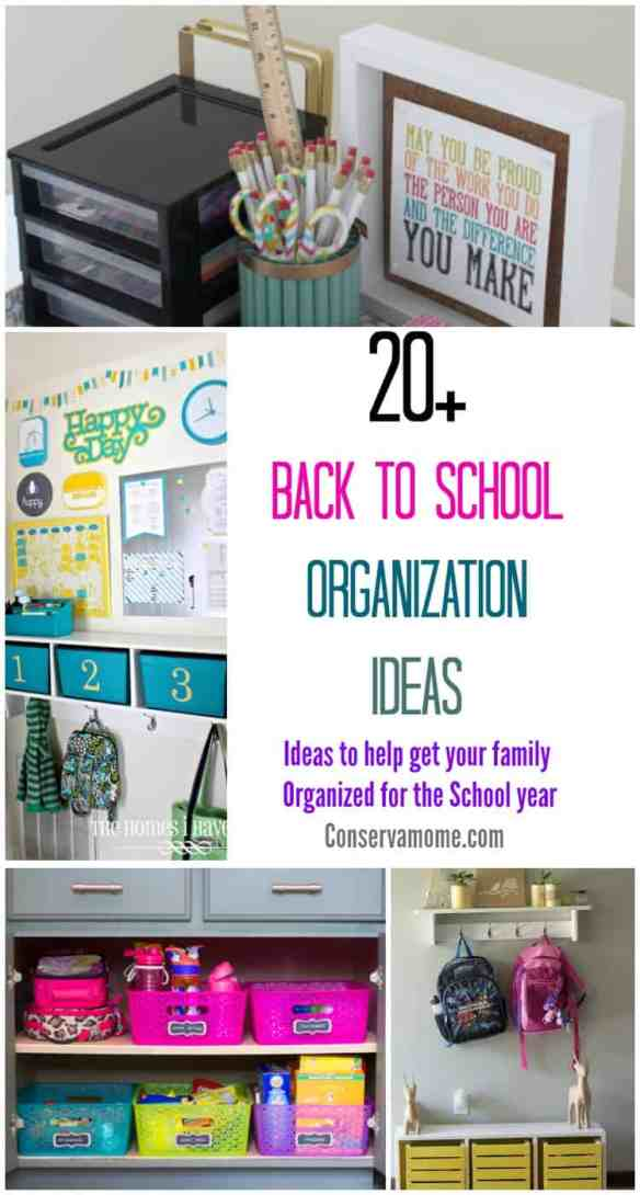 The School year just got a little more organized with these 20+ Back to School Organization Ideas. They will help get your family organized for the school year.
