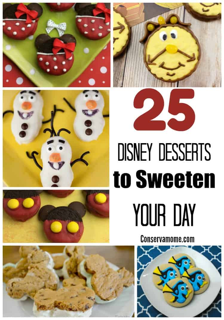 Looking for Some Disney Inspired fun? Check out these 25 Disney Desserts to Sweeten your day.
