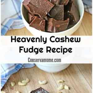 Heavenly Cashew Fudge Recipe