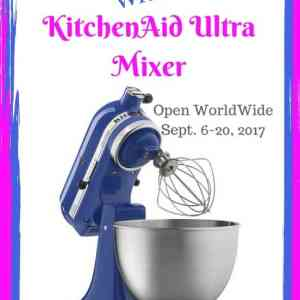 Kitchen Aid Ultra Mixer Giveaway ends 8/20