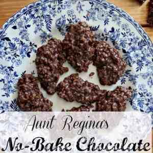 Aunt Regina's No-Bake Chocolate Oatmeal Cookies Recipe