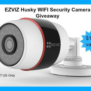 EZVIZ Husky WIFI Security Camera Giveaway ends 10/7