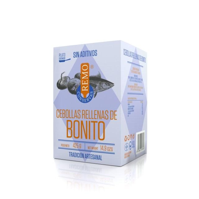 Cebollas rellenas de Bonito. Lata 425 g