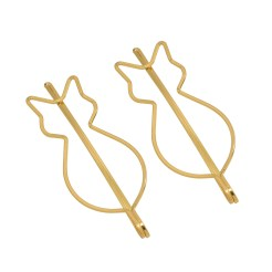 Gold Cat Shaped Hair Pins