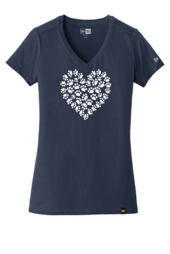 Cat Paw Heart Pink T shirt