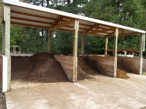 3-bin composting systems can reduce manure volume by 70%.