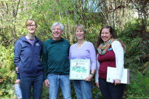 Lisa Brice and Steve Benson are the first landowners in Wilsonville to receive certification! (Photo: K. Kuhnhausen)
