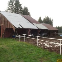 Before roof improvements and mud management practices