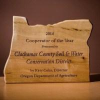 Cooperator of the Year award - 2014 - Photo by Jason Faucera
