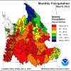 Monthly Precipitation - March 2013
