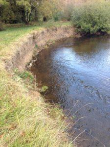 Bank erosion on Milk Creek