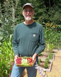 Roger in garden