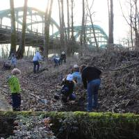 Volunteers of all ages turned out for a CRBC planting event.