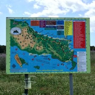 Map of Zakynthos