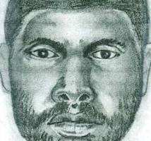 police sketch of suspect wanted in murder of Harrington