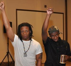 These are the leaders of the Towson Black Student Union. They are the main group that is agitating against the White Student Union.