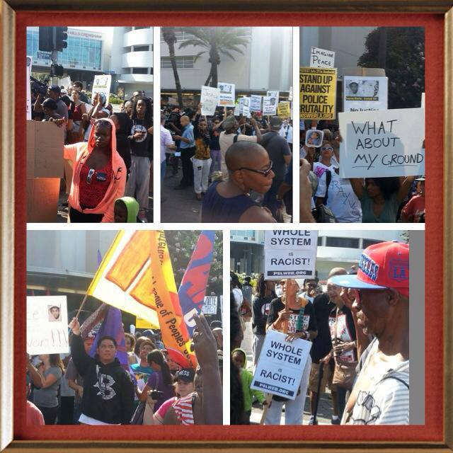 These photographs are from protests in Crenshaw earlier in the day.