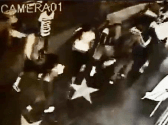 Trayvon Martin supporters from the south side of Los Angeles rampage through Hollywood attacking pedestrians.